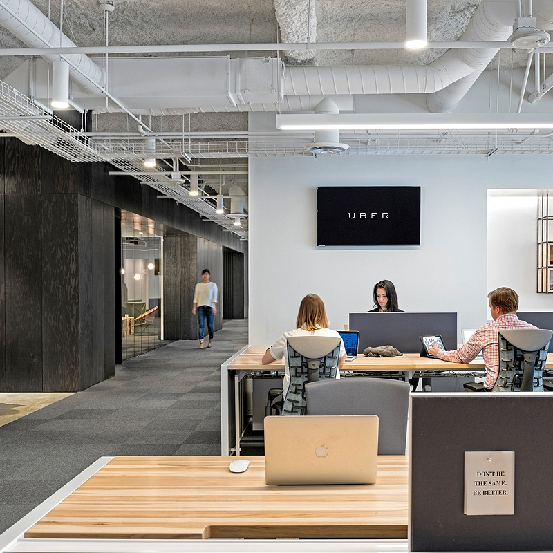 Iside Uber's Workspace In San Francisco, CA